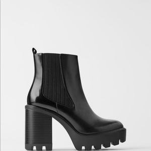Zara Platform Ankle boots with track soles